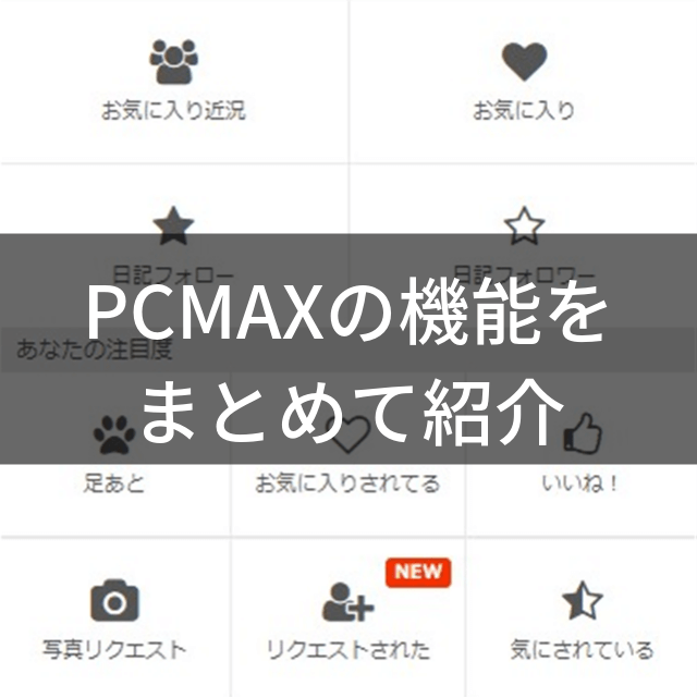 PCMAXの機能