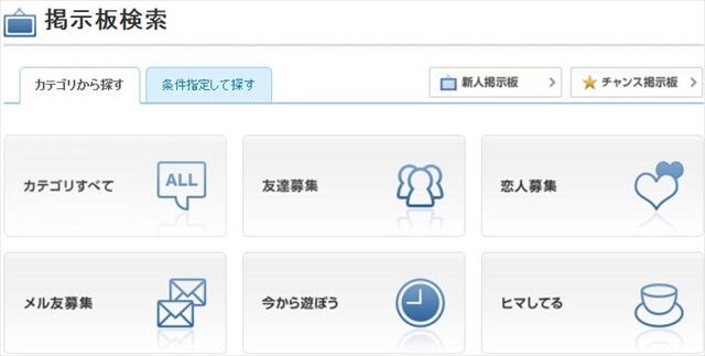 YYC掲示板検索カテゴリ