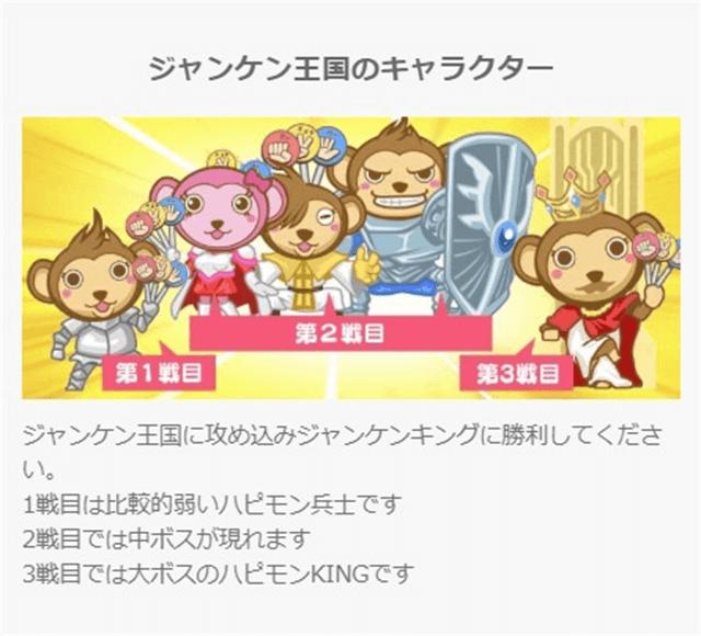 ジャンケン王国のキャラクター