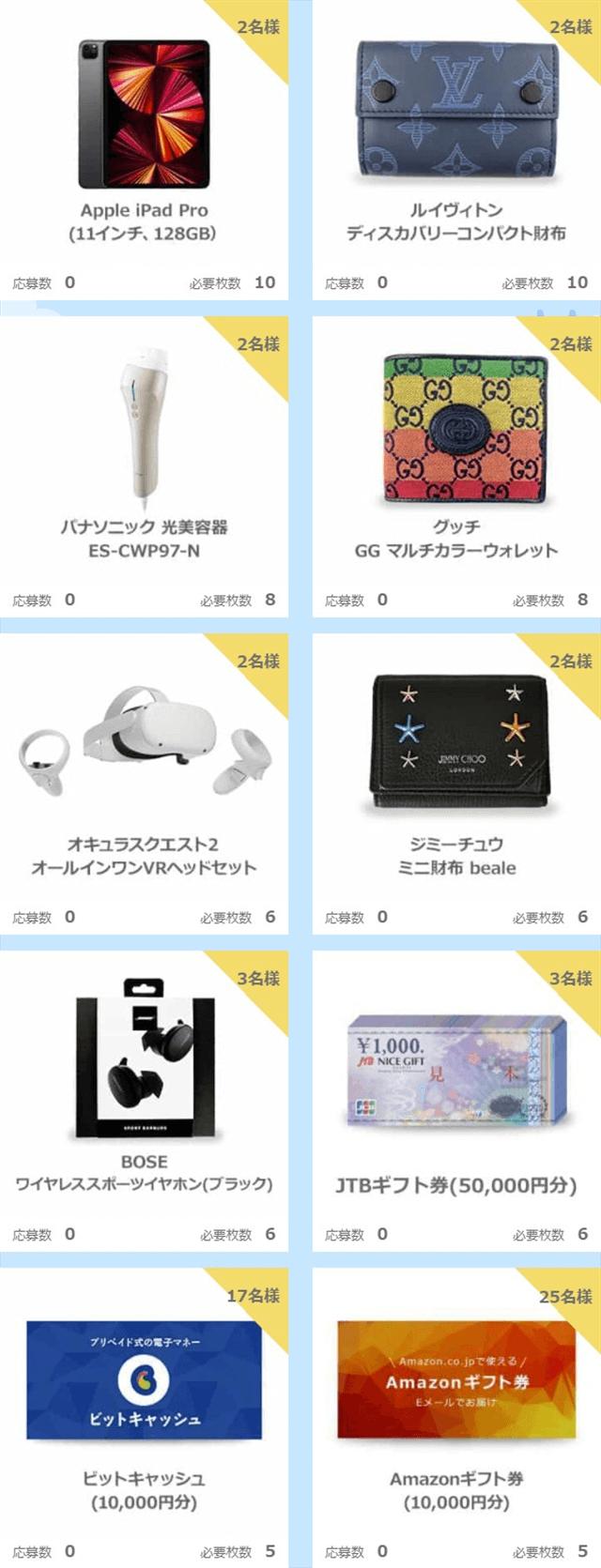 ハッピーメールサマーキャンペーン2021ウィクリー抽選第2週賞品