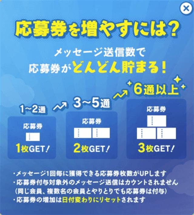 ハッピーメールサマーキャンペーン2021応募券の獲得方法